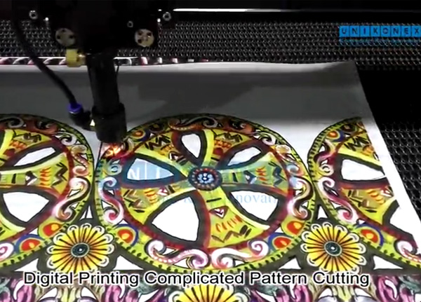 Printed fabric laser cutting